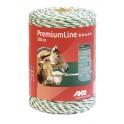 El.karjuse nöör Premium 1000m valge/roheline